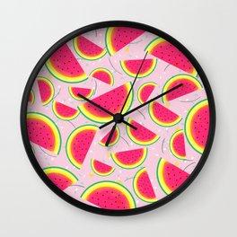 Melon Fiesta Pattern Wall Clock