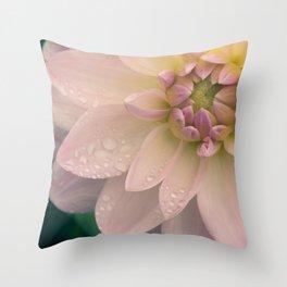Dahlias & Raindrops, 2 Throw Pillow