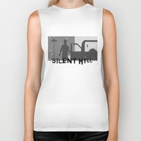 silent hill Biker Tanks featuring Silent Hill by Chandler Payne