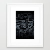 lettering Framed Art Prints featuring LETTERING  by Ylenia Pizzetti