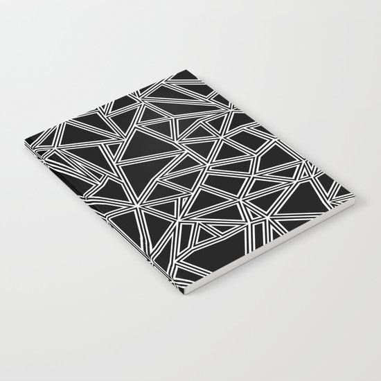 Abstract New White on Black Notebook