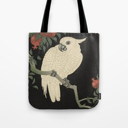Cockatoo and Pomegranate 柘榴に鸚鵡 Tote Bag