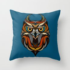 Oldschool Owl Throw Pillow
