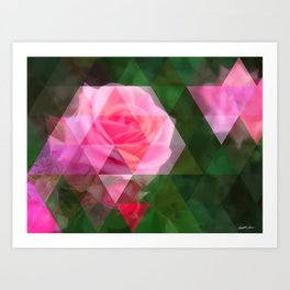 Pink Roses in Anzures 1 Art Triangles 1 Art Print
