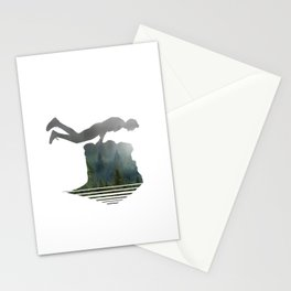Random Planking in the Wilderness Stationery Cards