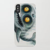 the whale iPhone & iPod Cases featuring Whale by Riccardo Pertici