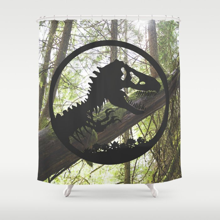 Welcome To Jurassic Park Shower Curtain