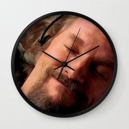 Jeff Bridges as The Dude Wall Clock