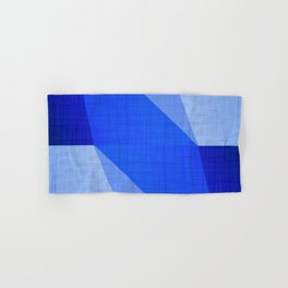 Lapis Lazuli Shapes - Cobalt Blue Abstract Hand & Bath Towel