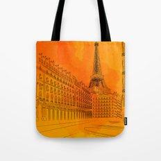 Parisian Sunsets Tote Bag