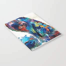 Colorful English Springer Spaniel Dog by Sharon Cummings Notebook
