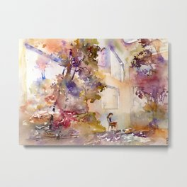 Colorful interior filled with foliage Metal Print
