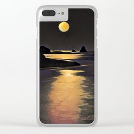 Blood Moon Reflection Clear iPhone Case