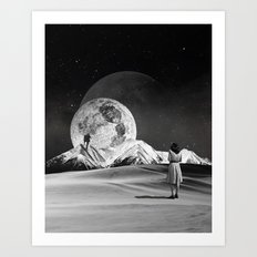 Luna-tic Art Print