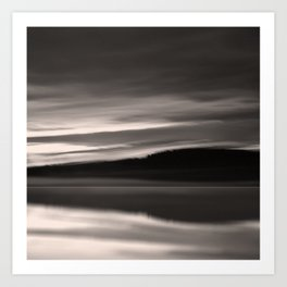Lake. Reflections of light in water. Art Print