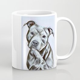 Pit Bull lover , portrait of a blue nose pit bull Coffee Mug