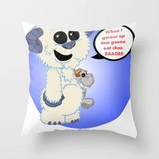 Lil wampa (blue) Throw Pillow