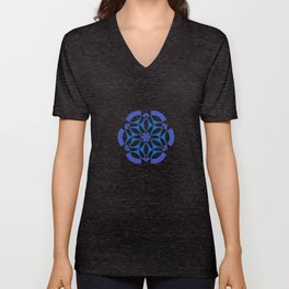 Little Data | Abstract sacred geometry | Aliens crop circle Unisex V-Neck