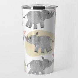 Rhino love yellow Travel Mug