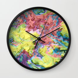 Lost in Thought; Fluid Abstract 56 Wall Clock