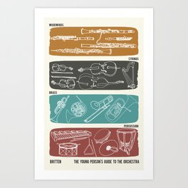 Britten - Young Person's Guide to the Orchestra Art Print