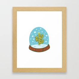 Cactus Snow Globe Framed Art Print