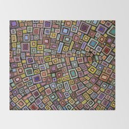 Squares Dancing Throw Blanket