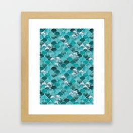 Wave Jumpers (Turquoise) Framed Art Print