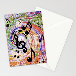 Music Notes Stationery Cards