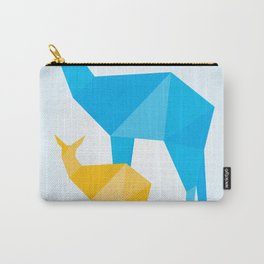 Geometric Deer and Fawn Carry-All Pouch