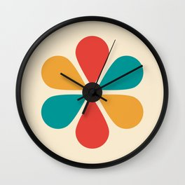 Mid Century Flower Wall Clock