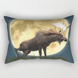 Moose & Moon Rectangular Pillow