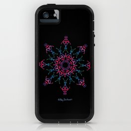 Breathe In & Out Mandala - Black iPhone Case