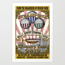 The 2012 Official Steampunk World's Fair Poster Art Print
