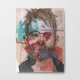 Thom Yorke by Leo Tezcucano Metal Print