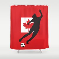 canada Shower Curtains featuring Canada - WWC by Alrkeaton