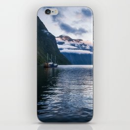Milford Sound over night cruise at beautiful Harrison Cove iPhone Skin
