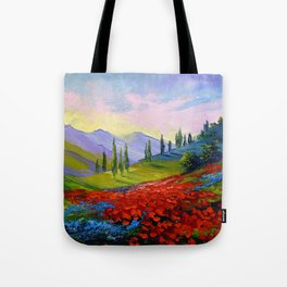 The castle on the mountain Tote Bag