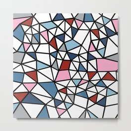 Segment Pink and Blue Metal Print
