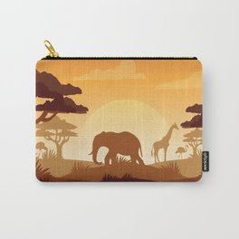 Abstract African Safari Carry-All Pouch