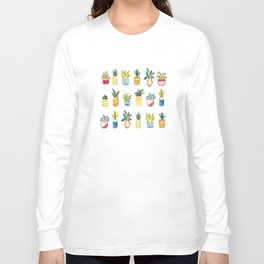 Sixteen Pot Plants Long Sleeve T-shirt