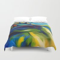 elk Duvet Covers featuring Elk by mynameiselena