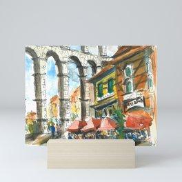 Spain Segovia Aqueduct Mini Art Print