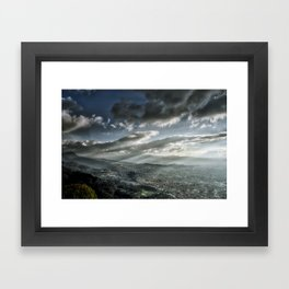 Bogotá in Shadows Framed Art Print