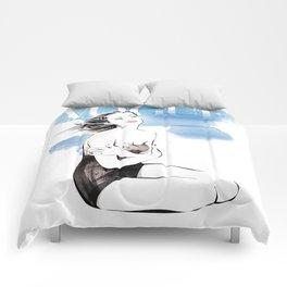 Vogue Fashion Illustration #18 Comforters