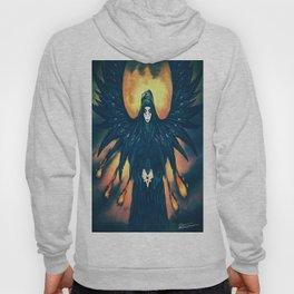 winged angel design Hoody