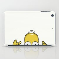 simpson iPad Cases featuring Strange Homer Simpson by Yuliya L
