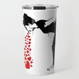 Lovesick - Banksy, Streetart Street Art, Grafitti, Artwork, Design For Men, Women, Kids Travel Mug