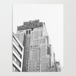 New Yorker Sign - NYC Black and White Poster