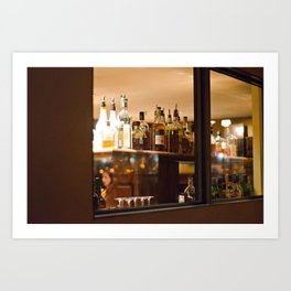 Stop for a drink Art Print